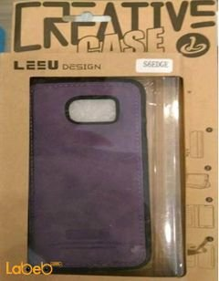 Lesu mobile back cover - for samsung S6 edge - Purple color
