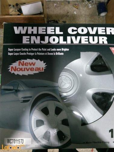 ENJOLIVEUR Wheel Cover - 4 pieces - silver color - WC 70115 TO