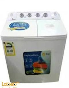 Dansat Twin Tup washing machine - 9kg - White - DWL10 model