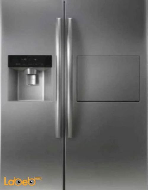 Linnex Side by side Refrigerator - 550L - Silver color- TRF-550WEDM