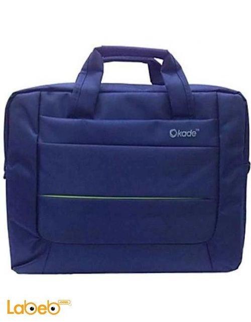 حقيبة لاب توب Okade مصنوعة من القماش أزرق موديل 15.6