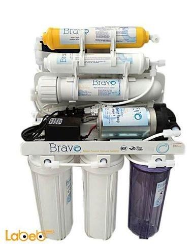 فلتر إزالة الشوائب برافو - 10 لتر - 6 مراحل - لون أبيض