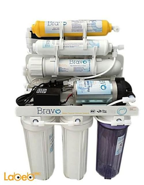 Bravo water filter System 6 Stages 10 Liter white color