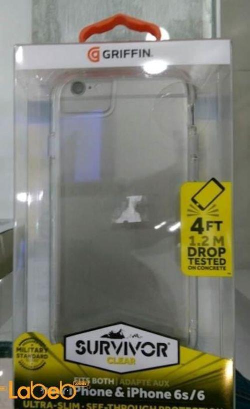 غطاء خلفي ماركة GRIFFIN لموبايل ايفون 6S/ 6 شفاف موديل GB42312