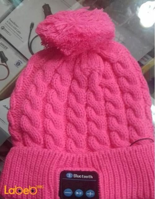 Dream hat hands free bluetooth beanie pink color