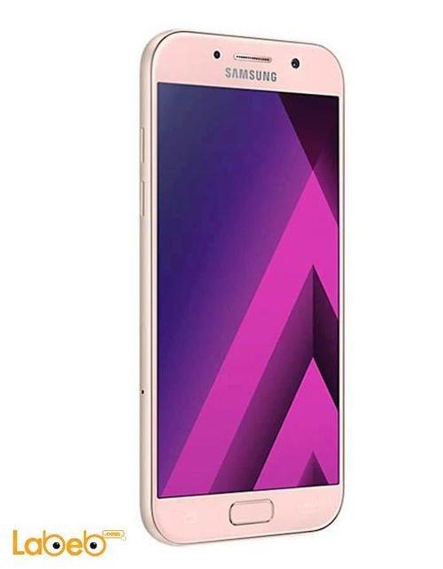 Left View Samsung Galaxy A5 (2017) smartphone 32GB 5.2inch Pink SM-A520F