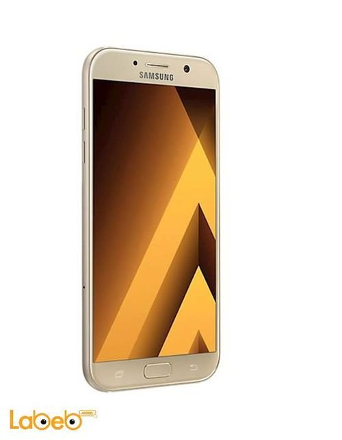 Left Side Samsung Galaxy A7 (2017) smartphone 32GB Gold SM-A720F/DS