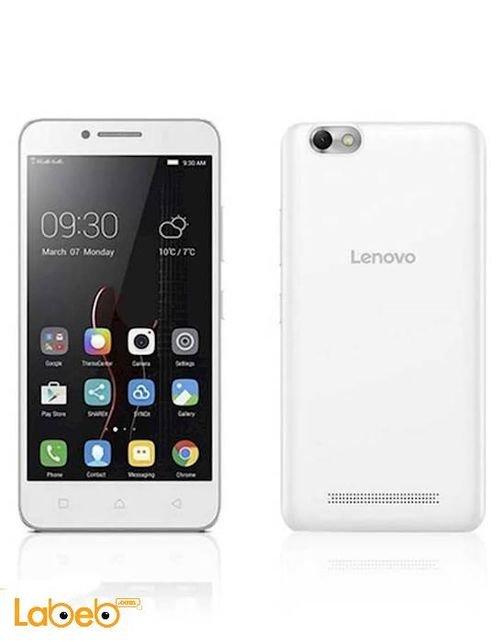 موبايل لينوفو Vibe C ذاكرة 16 جيجابايت 5 انش أبيض A2020
