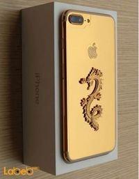 موبايل ايفون 7 ابل 32 جيجابايت 4.7 انش ذهبي مطلي بالذهب مع تنين