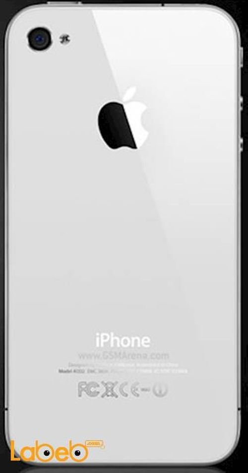 خلفية موبايل ايفون 4 ابل ذاكرة 32 جيجابايت 3.5 انش أبيض A1332