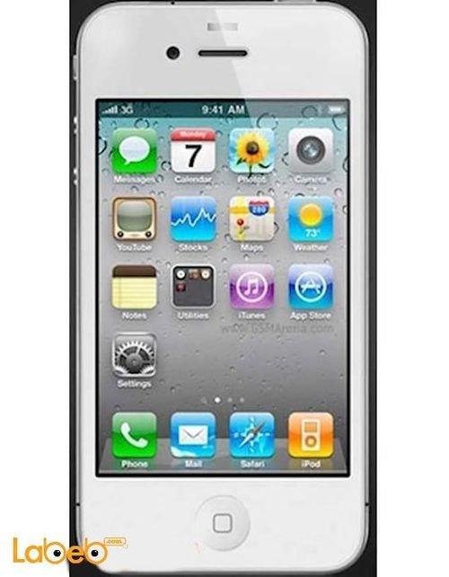 موبايل ايفون 4 ابل ذاكرة 32 جيجابايت 3.5 انش أبيض A1332