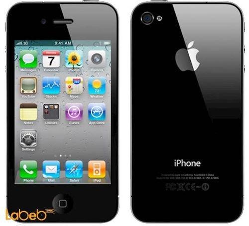موبايل ايفون 4 ابل ذاكرة 32 جيجابايت 3.5 انش لون أسود A1332