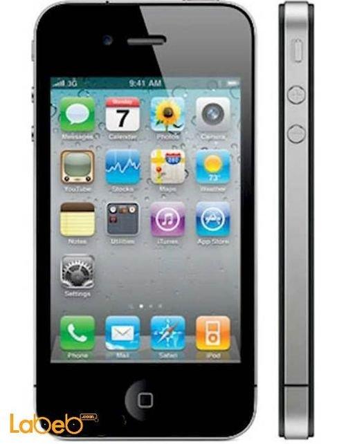 موبايل ايفون 4 ابل ذاكرة 32 جيجابايت 3.5 انش أسود A1332
