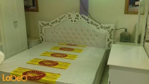 Bedroom 7 pieces Malaysian Wood White 2x2m bed size