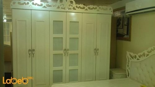 Bedroom 7 pieces closet Malaysian Wood White 2x2m bed size