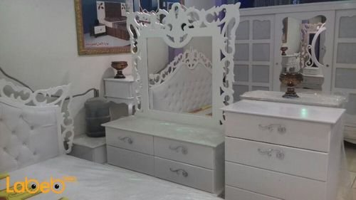Bedroom 7 pieces  dressing table Malaysian Wood White 2x2m bed size