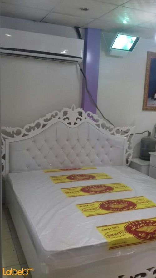 Bedroom 7 pieces bed Malaysian Wood White 2x2m bed size