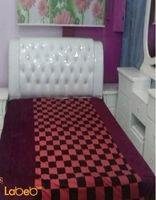 غرفة نوم من 7 قطع خشب ماليزي لون ابيض سرير مقاس 2*2
