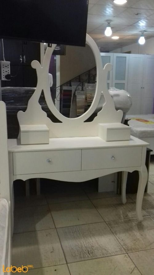 Single room white 5 pieces Malaysian Wood 190x120cm bed