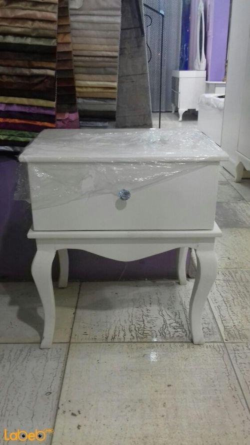 غرفة نوم مفرد 5 قطع خشب ماليزي ابيض سرير 190*120 سم