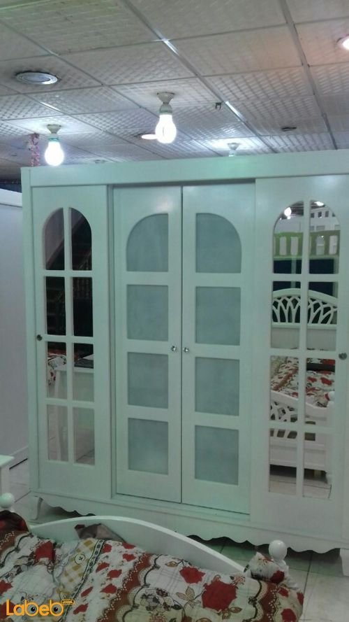 Single room 5 pieces closet Malaysian Wood white 190x120cm bed