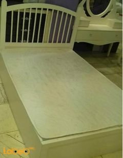 Single room - 5 pieces -Malaysian Wood - white - 190x120cm bed