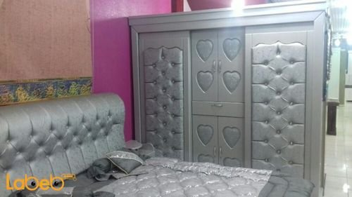 Bedroom 7 pieces closet Malaysian Wood Silver 2x2m bed size