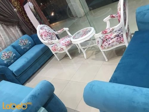 Fabric Sofa Set 4 pieces Separated 7 seats