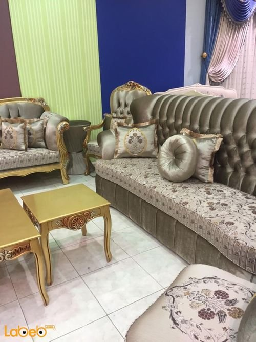 American Sofa Set silver with flowers