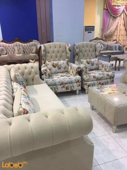 Fabric Sofa Set 4 pieces Separated