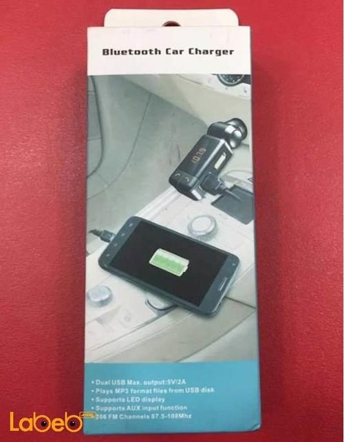 Bluetooth Car charger MP3 LED display 2 USB port