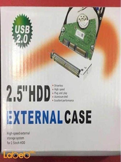 black External Hard Disk Drive Case