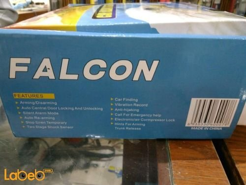 Falcon car alarm system Black color