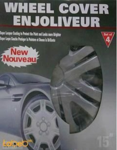 ENJOLIVEUR Wheel Cover - 4 pieces - 15inch - Silver - WC 174 VG