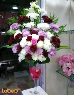 Natural colored flower bouquet - five colors