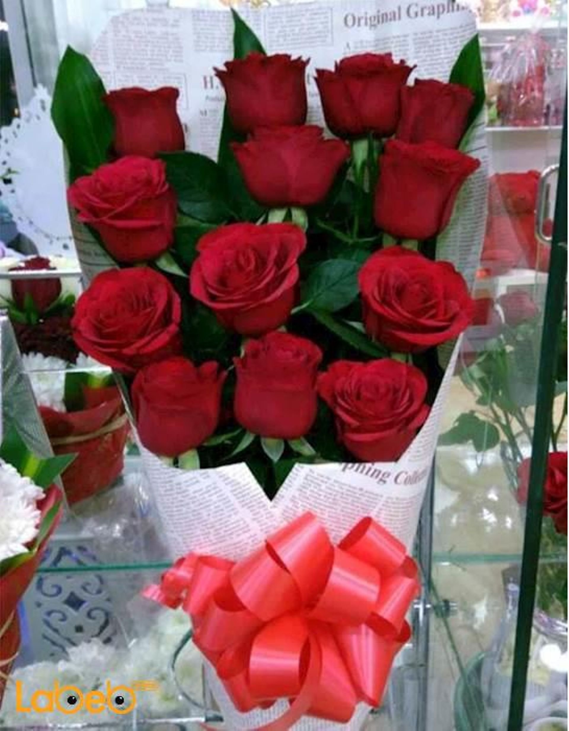 Natural Red Roses Bouquet