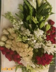 Natural colored flowers - for table meetings - White and red