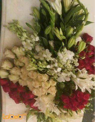 ورود طبيعية ملونة - خاصة لطاولة الإجتماعات - أبيض وأحمر