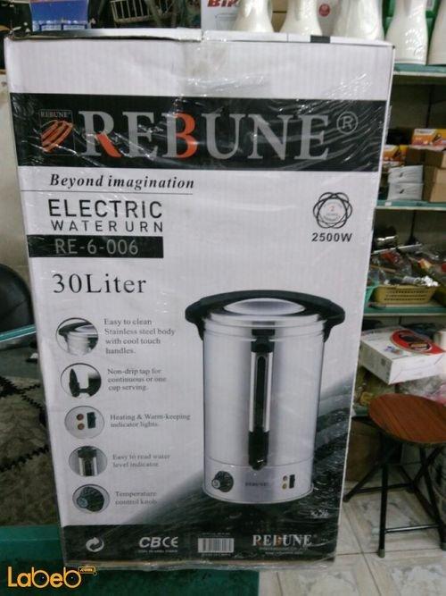 Rebune Electric Water Urn 30L 2500Watt Stainless steel RE_6_006