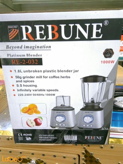 Rebune Platinum Blender specifications 1000W 1.8L Stainless RE_2_032