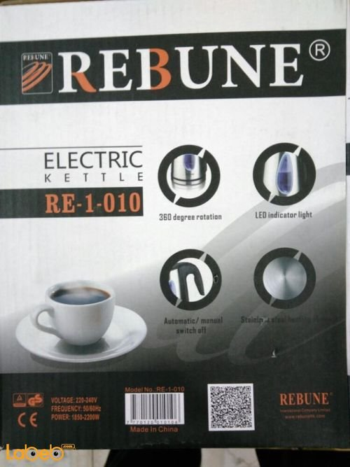 Rebune Electric Kettle specifications 1.7L Stainless RE-1-010