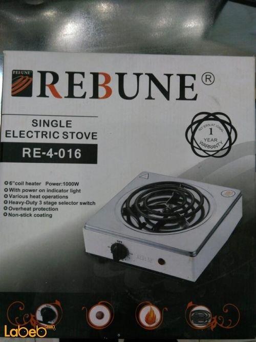 طباخ كهربائي مسطح REBUNE قوة 1000 واط 3 شعلات RE_4_016