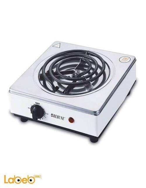 طباخ كهربائي مسطح REBUNE قوة 1000 واط 3 شعلات أبيض موديل RE_4_016