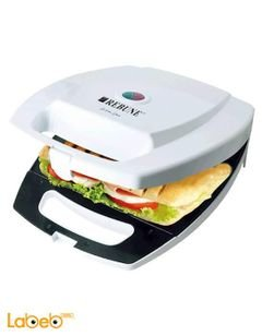 Rebune electric 4 Slice sandwich maker - 1400W - White - RE_5_013
