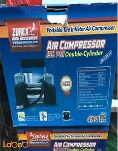 ضاغط هواء للسيارة ZUREX - قوة 2 سلندر - 12 فولت - AC-ZU2C