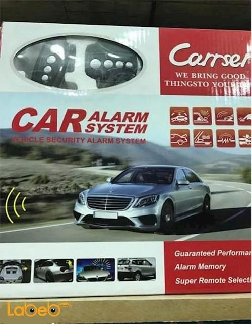 CARRSER Car Alarm System remote control Black Colour