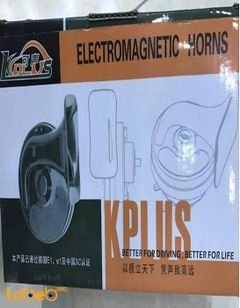 KPLUS Car Electromagnetic Horns - lasting and durable - Black Colour