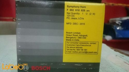 BOSCH Indian Symphony Horns specifications lasting and durable 12V Black