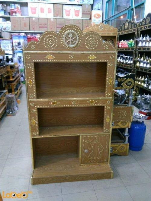 خزانه لحفظ أباريق القهوة حجم الخزانة 145*80 سم صناعة سعودية