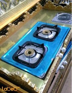 portable gas stove - 2 gas /1 electric burner - 1x0.52m - Gold